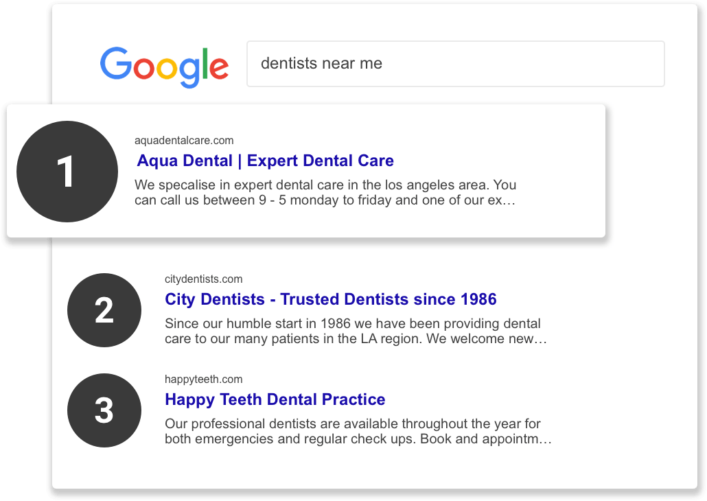 dental search example