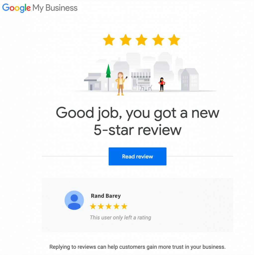 google review alert